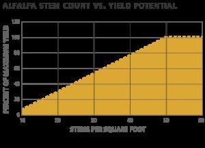 Alfalfa Stem count versus yield potential