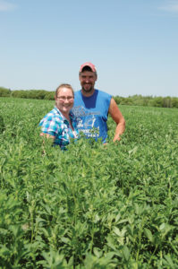 Alforex Seeds Hi-Ton alfalfa grower Git-R-Done Farm, Auburndale, WI