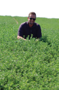 Alforex Seeds Hi-Ton alfalfa grower, Eli Bailey, Seed Manager, Bingham Coop, Blackfoot, ID