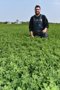 Alforex Seeds Hi-Ton alfalfa grower Jake Brock, Brock Dairy Farm, Dagget, MI