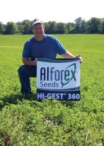 Alforex Seeds Hi-Gest 360 alfalfa grower, Rob Treuthardt, Monroe, WI