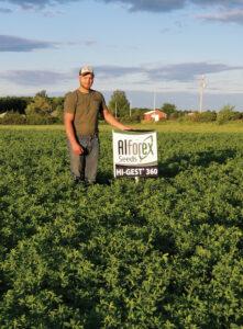 Alforex Seeds Hi-Gest 360 alfalfa grower, Zach Stoflet, Rozellville, WI
