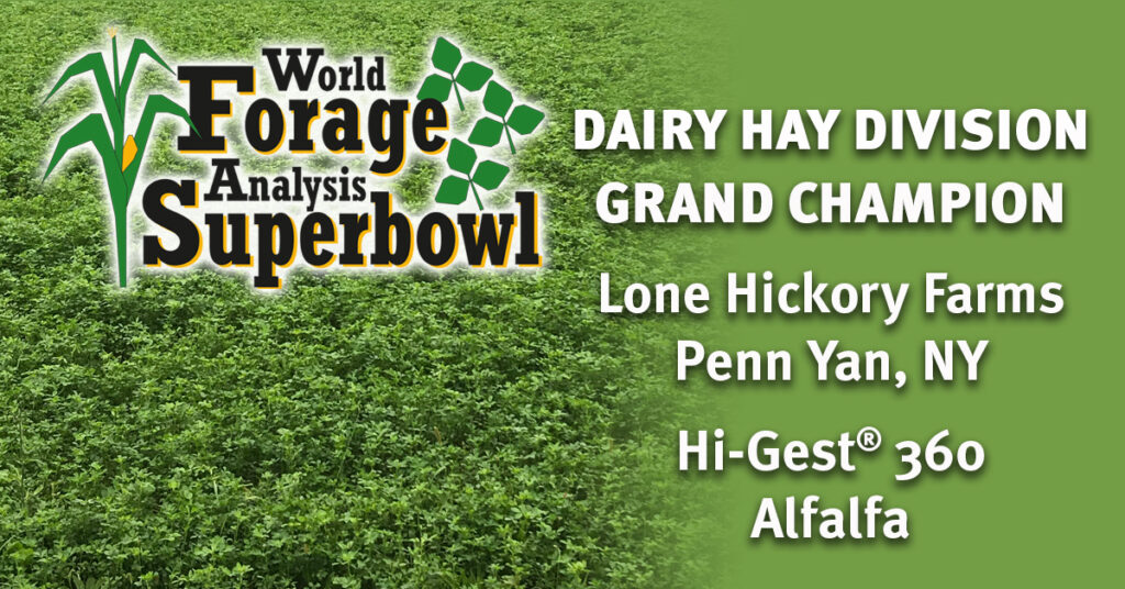 Hi-Gest 360 Wins Dairy Hay Division of World Forage Analysis Superbowl